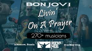Livin' On A Prayer - <b>Bon Jovi</b>. Rocknmob Moscow #8, 270+ musicians