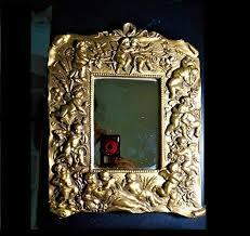 13 Baroque Cherubs Gold Gilted Wall Mirror, Heavy ... - Amazon.com