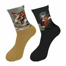 New <b>3d Printed</b> Retro <b>Painting</b> Art Crew <b>Socks</b> Men Funny Starry ...