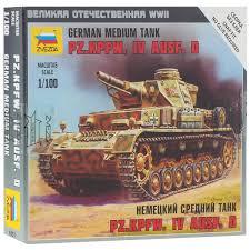 Звезда <b>Сборная модель</b> Немецкий средний танк Pz-IV Ausf D ...