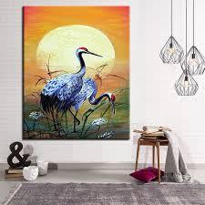 2019 Red Crowned <b>Crane</b> DIY <b>Painting By Numbers</b> Kits Drawing ...