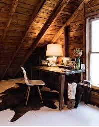 rustic chic attic home office attic office ideas
