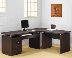 interior designscaptivating home office decor with espresso l shaped desk and file cabinet modern captivating home office desk