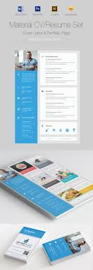 creative cv resume templates cover letter portfolio material cv resume design set