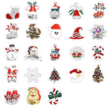 Soleebee <b>Mixed Random</b> Alloy Rhinestones <b>Christmas</b> Item Snap ...