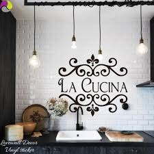 La Cucina Kitchen Wall Sticker <b>Italian Kitchen</b> Quote Wall Decor ...