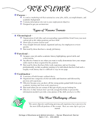 types of resume format resume format  different