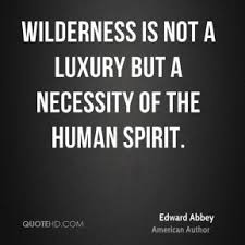 Wilderness Edward Abbey Quotes. QuotesGram via Relatably.com