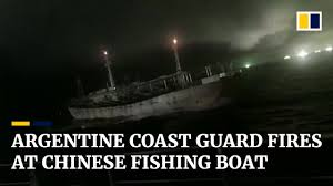 Argentine coast guard opens fire on Chinese <b>fishing boat</b> - YouTube
