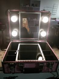 2016 new type make up vanity box case with led lights beauty kit gift set mirror cheap vanity lighting