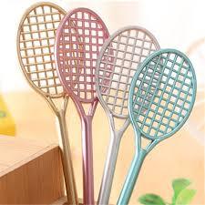 4PCS Cute Tennis Racket <b>Badminton</b> Racket Shaped Gel Pen ...