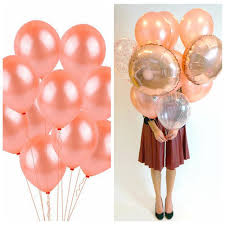 <b>10pcs</b>/<b>20pcs</b> Kids Favor <b>Rose Gold</b> Latex Balloons Inflatable Toys ...