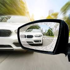 2Pcs/Set Anti-fog <b>Waterproof Film</b> Car <b>Rearview Mirror</b> Nano ...