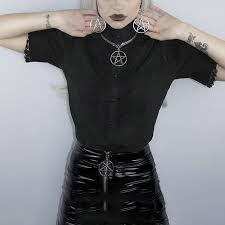 <b>Rosetic Women Gothic Blouses</b> Lace Vintage Draped Patchwork ...