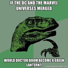 If the DC and the MARVEL universes merged would doctor doom become ... via Relatably.com