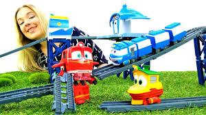 Распаковка: Роботы-поезда и железная дорога. Паровозики и ...