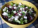 Салат с красной фасоли консервированной с сыром