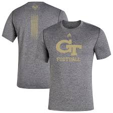 <b>Men's</b> adidas Gray Georgia Tech <b>Yellow</b> Jackets <b>2019</b> Cape Day T ...