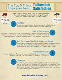 the top 5 things employees need to have job satisfaction b share the quote love