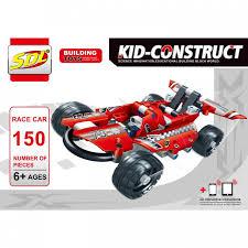 <b>Конструктор SDL Kid-Construct</b> Гоночный болид (150 деталей ...