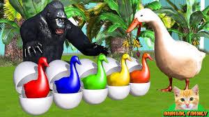 gorilla rescues eggs of goose - <b>Cartoon</b> for <b>children</b>