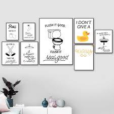 <b>Toilet Paper Toilet</b> Sink Socks Duck <b>Quotes</b> Art Canvas Painting ...