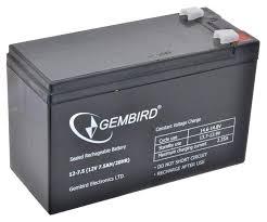 Аккумуляторная батарея 12 В для <b>ИБП</b>-<b>UPS</b> 7,5 А-ч <b>Gembird</b> BAT ...