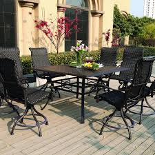 outdoor balcony height patio dining furniture