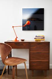 bachelor loft contemporary home office idea in other with white walls and a freestanding desk awesome home office desks