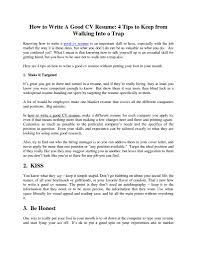 how to write a good resume getessay biz how to write a good resume
