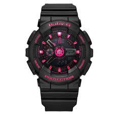 (<b>Hot sale</b>)Original Casio Baby-G BA110 Black Pink Wrist <b>Watch</b> ...