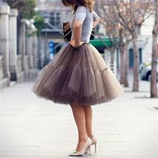 2019 Petticoat <b>5 Layers 60cm Tutu</b> Tulle Skirt Vintage Midi Pleated ...