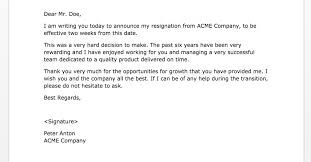 two weeks notice letters   samples   weeks notice letter of resignation