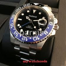 40mm gmt version sapphire glass blue red bezel 316l stainless steel watch case fit miyota 8215 eta 2836 movement c28