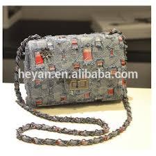 Newest <b>Fashion Women</b> Lady <b>Jeans Chain</b> Shoulder Bag - Buy ...