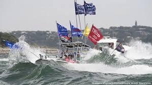 Abandon <b>ship</b>! <b>Boats</b> sink at pro-Trump lake parade | News | DW ...