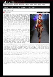 vogue italia project types caroline leaper style essay how do fashion and pop culture collide