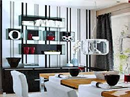 dining room wall decorating ideas: diningroomideasblackandwhite black white red dining room decorating modern color schemes