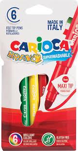<b>Фломастеры Carioca Bravo</b>, 262569, <b>6</b> цветов — купить в ...