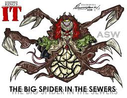 best images about it pennywise the clown it pennywise big spider final form stephen king`s it by alexgangster20comic on