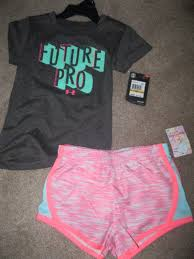 nwt under armour girls gray future pro top 2pc 90 degrees short nwt under armour girls gray future pro top