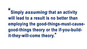 let s bring back theory to theory of change evidence matters we often see theory of change presented simply as a results framework or logical framework sometimes augmented by assumptions which are intended to