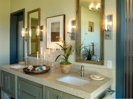 bathroom decor ideas unique decorating: luxury small bathroom decorations light vanity top soak in sinks glass candle holders light grey