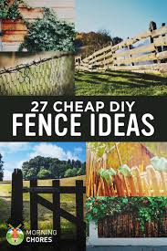 Small Picture 27 Cheap DIY Fence Ideas for Your Garden Privacy or Perimeter