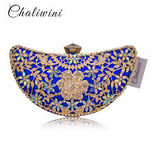 <b>Chaliwini</b> Classic <b>Women</b> Clutch <b>Evening Bag</b> Hollow Out Metal ...