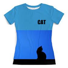 """Футболка с полной запечаткой (женская) """"<b>CAT</b>. <b>Кошка</b>"""" #1590577 ..."""