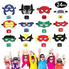 HXDZFX <b>24PCS Superhero</b> Party Masks and Superhero Slap ...