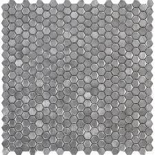 Gravity Aluminium Hexagon Metal 30,7x30,4 <b>мозаика</b> от <b>L</b>`<b>antic</b> ...