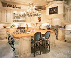 kitchen large country double island
