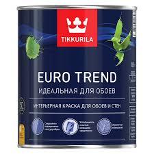 <b>Краска для обоев и</b> стен Tikkurila EURO TREND основа A 0,9 л ...